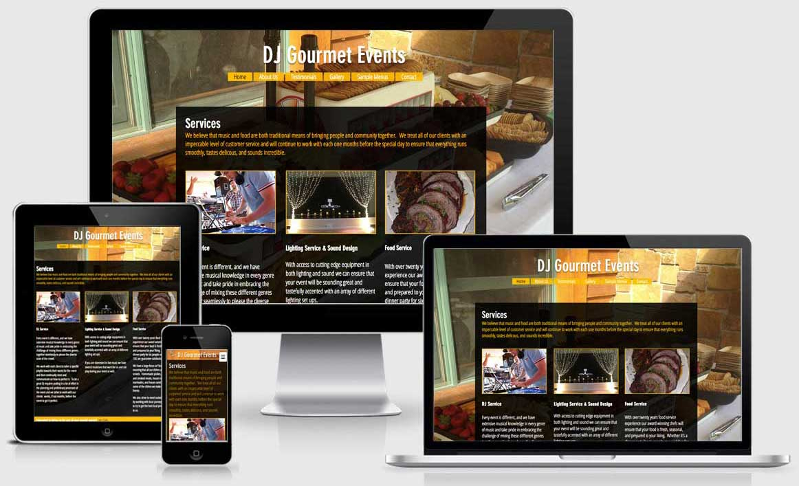 Responsive Website: djgourmetevents.com
