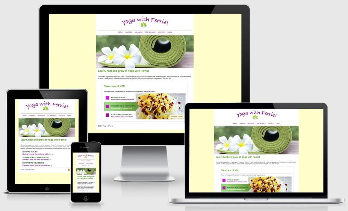 Responsive Website: yogawithferrie.com